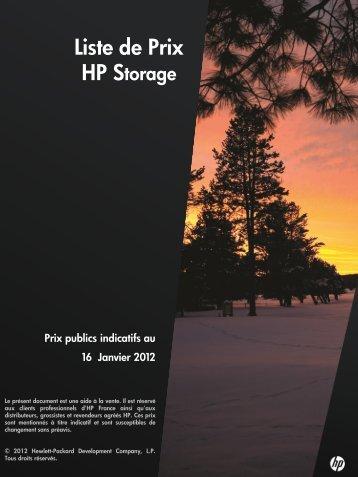 Liste de Prix - Hewlett-Packard France