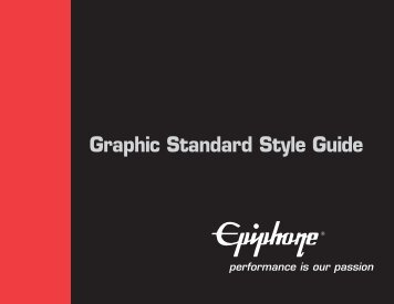 Epiphone Graphic Standard Style Guide - Gibson