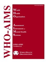 World Health Organization Assessment Instrument for Mental Health ...
