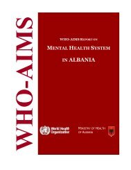 IN ALBANIA - World Health Organization