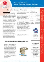 Campus Principals - Copperfield College