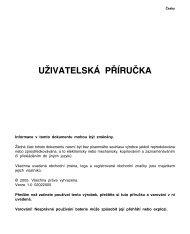 UŽIVATELSKÁ PŘÍRUČKA - Schuss