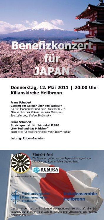 Benefizkonzert für JAPAN - Württembergisches Kammerorchester ...
