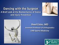 the presentation - UAB Sports Medicine