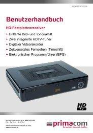 Anleitung HD-Festplattenreceiver - Primacom