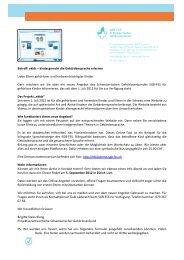 Betreff: ekids - beim Schweizerischen Gehörlosenbund