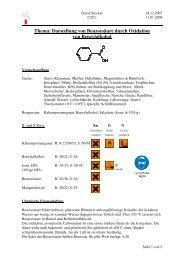 Darstellung von Benzoesäure duch Oxidation von Benzylakohol