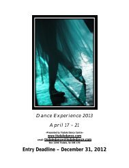 2013 Registration Information - Tisdaledance.com