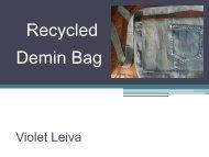 Recycled Demin Bag - Violet Leiva's Portfolio