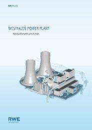 Westfalen Power Plant: New-build project units d - RWE.com