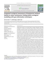 Integrated ecological assessment of biophysical wetland habitat in ...