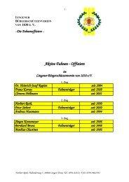 Die Fahnenoffiziere - Lingener Bürgerschützenverein 1838 eV