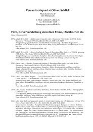 V orstellung einzelner Filme, Drehbücher etc. - Versandantiquariat ...