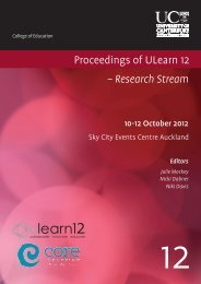 Preface to Proceedings of ULearn12 Research Stream