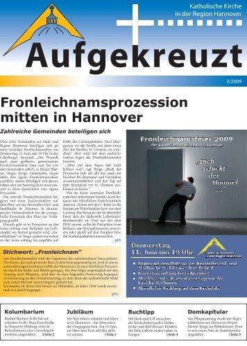 Fronleichnamsprozession mitten in Hannover - Katholische Kirche ...