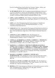 Liste der Veröffentlichung Arndt Liebisch incl. betreuter Diplom ...