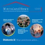 Werraland News 1/2005 - bei Werraland Werkstätten eV