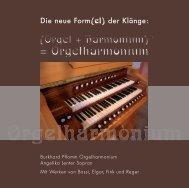 Orgelharmonium Booklet - Orgelbau Lenter