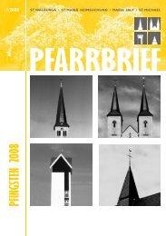 PFARRBRIEF Pfingsten 2008 - St. Walburga