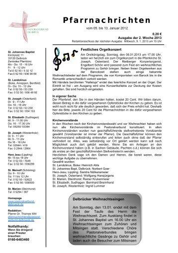 Sonntag, 06.01.2013 - Pastoralverbund Delbrück
