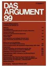 Das Argument 99 - Berliner Institut für kritische Theorie eV