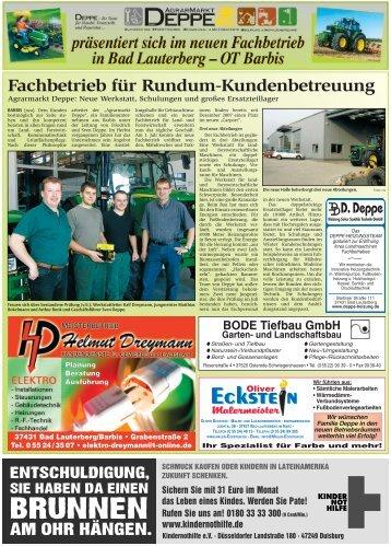 Fachbetrieb Für Rundum-Kundenbetreuung - Agrar-Markt DEPPE