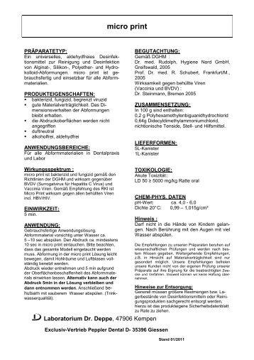 micro print - Laboratorium Dr. Deppe