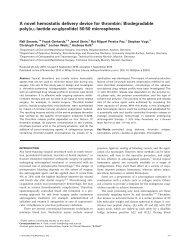 A novel hemostatic delivery device for thrombin - Zahnärztliches ...