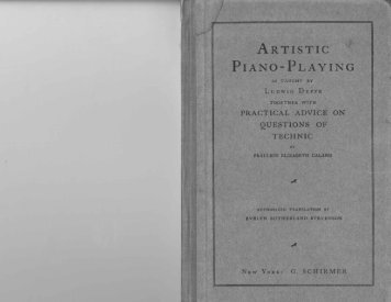 ARTISTIC PIANO-PLAYING - Walter Cosand
