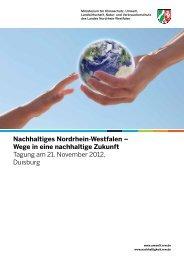 Nachhaltiges Nordrhein-Westfalen - Ministerium für Klimaschutz ...