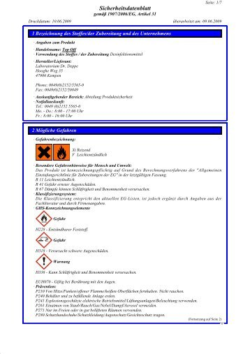 Sicherheitsdatenblatt - Laboratorium Dr. Deppe