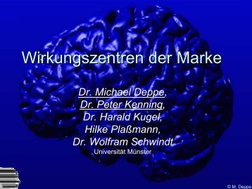 Wirkungszentren der Marke - Marketing.ch
