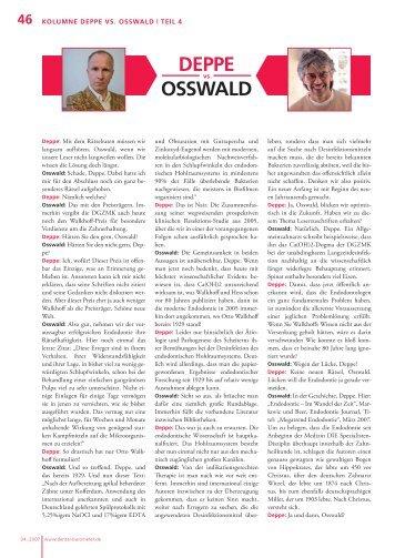 Dental Barometer 04_2007 Kolumne Deppe vs. Osswald | Teil 4