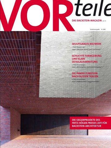 das backstein-magazin 01 i 11 skulpturales bauwerk schlichte ...