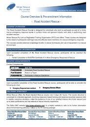Road Accide Course Overview & Pre-enrolment ... - Mines Rescue