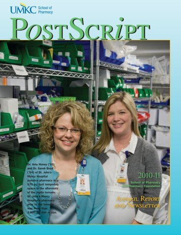 Annual Report and Newsletter - UMKC School of Pharmacy ...