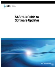 SAS 9.3 Guide to Software Updates