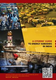a citizens' guide to energy subsidies in india - International Institute ...