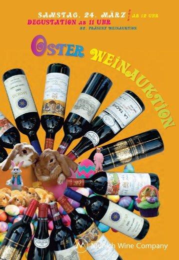 auktion erlesener weine & spirituosen - Munich Wine Company