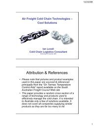 Cool Solutions - South Australian Freight Council Incorporated