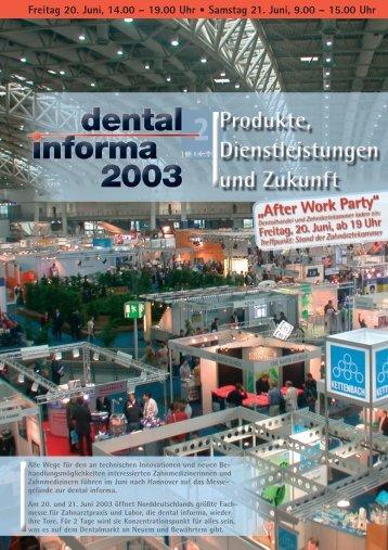G 1103 dental informa 2003 - Zahnärztekammer Niedersachsen