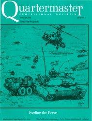 No More 'Sailboat Fuel'! WHEELS - Quartermaster School - U.S. Army