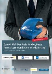 """Zum 6. Mal: Der Preis für die """"Beste Finanz-Kommunikation im ..."""