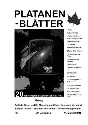 20. Jahrgang NUMMER 04/10 PLATANEN BLÄTTER - Platane 19