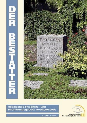 Hessisches Friedhofs und Bestattungsgesetz verabschiedet
