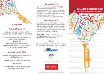 60 JAHRE POSAUNENCHOR - Kulturfreunde Heroldsberg