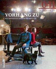 vorhang zu - Kulturmagazin
