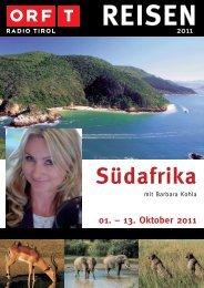 Südafrika 01. – 13. Oktober 2011 - TUI ReiseCenter