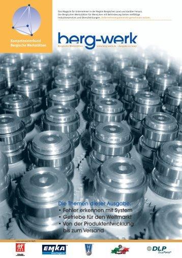 Berg-Werk Ausgabe 1 - Kompetenzverbund Bergische Werkstätten