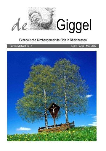 de Giggel - der evangelischen Kirchengemeinde Eich